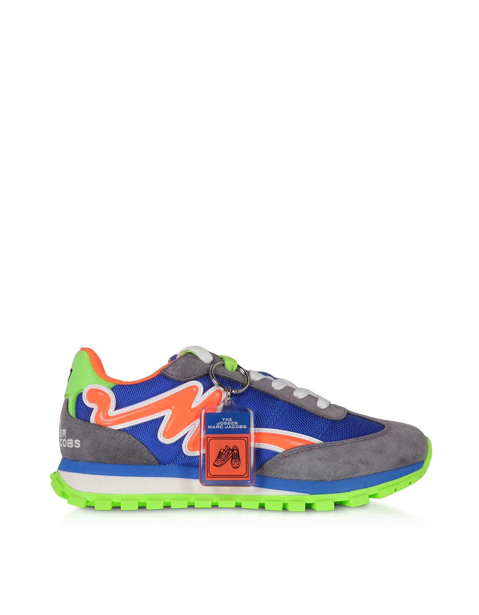 Marc Jacobs The Jogger Tangerine & Blue Nylon Womens Sneakers