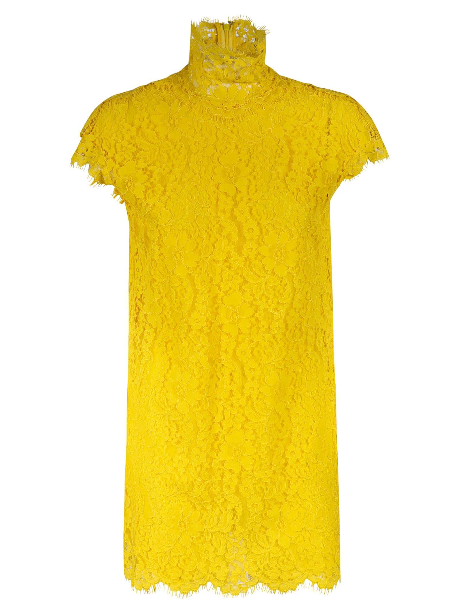 Dsquared2 High-neck Lace Floral Dress