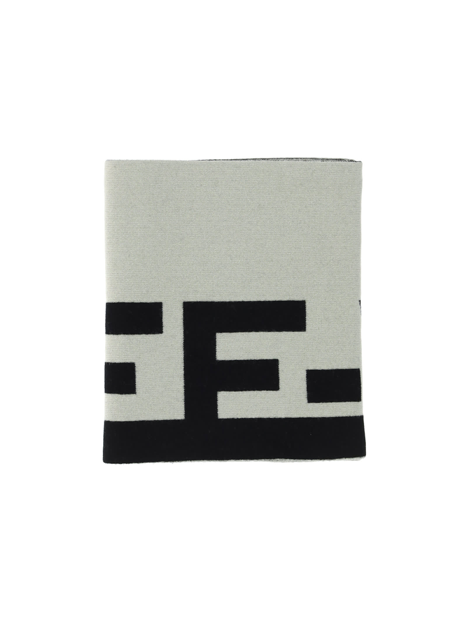 Off-white Off White Logo Felted Wool Scarf In Light Grey