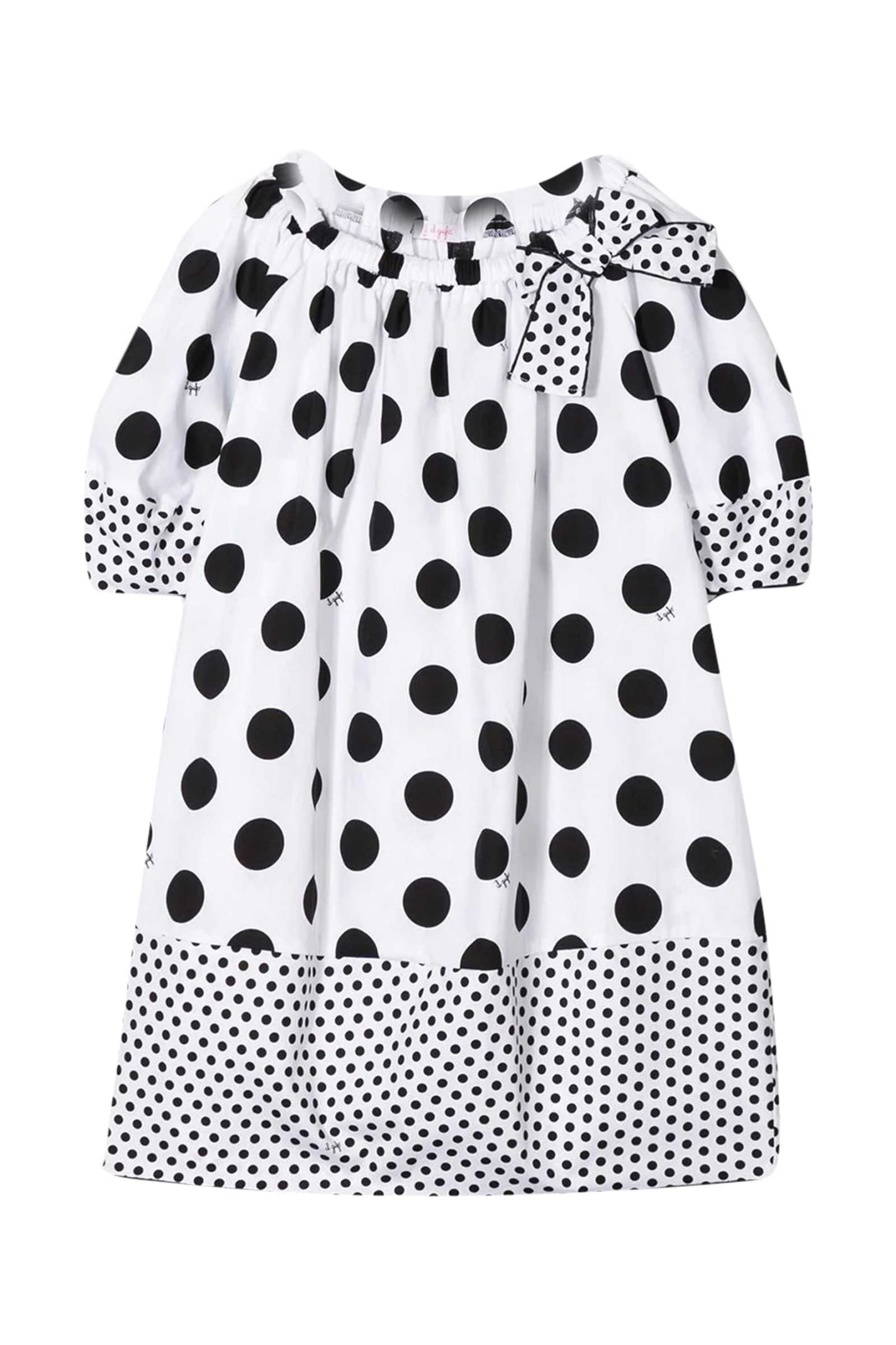 Buy Il Gufo Polka Dot Dress online, shop Il Gufo with free shipping