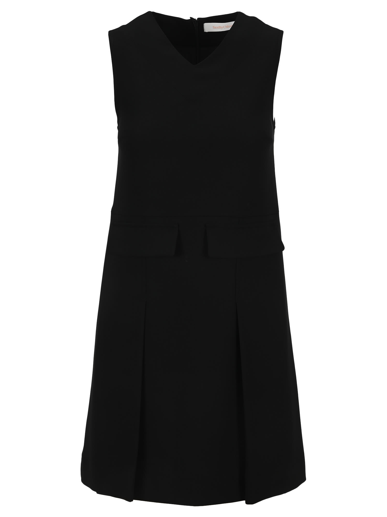 Buy See By Chloe Sleeveless V-neck Dress online, shop See by Chloé with free shipping