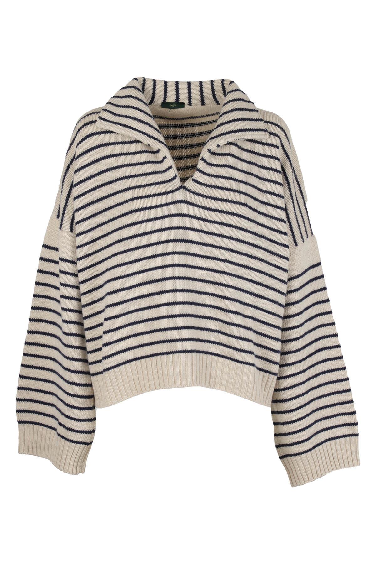Jejia Sweater In Bianco Nero