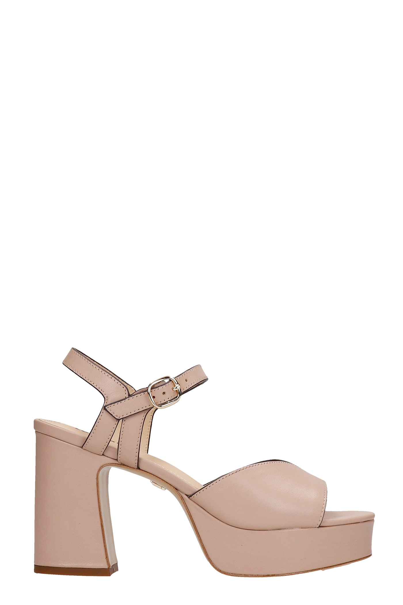 Sandals In Powder Leather