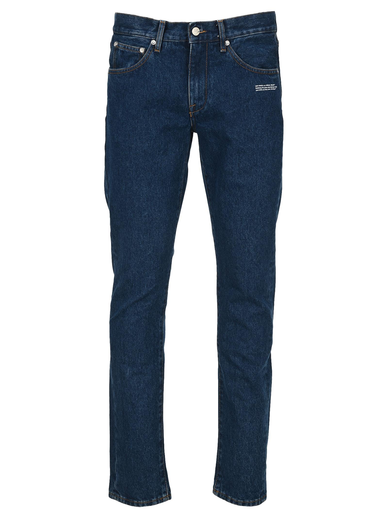 Off White Diag Pocket Slim Jeans