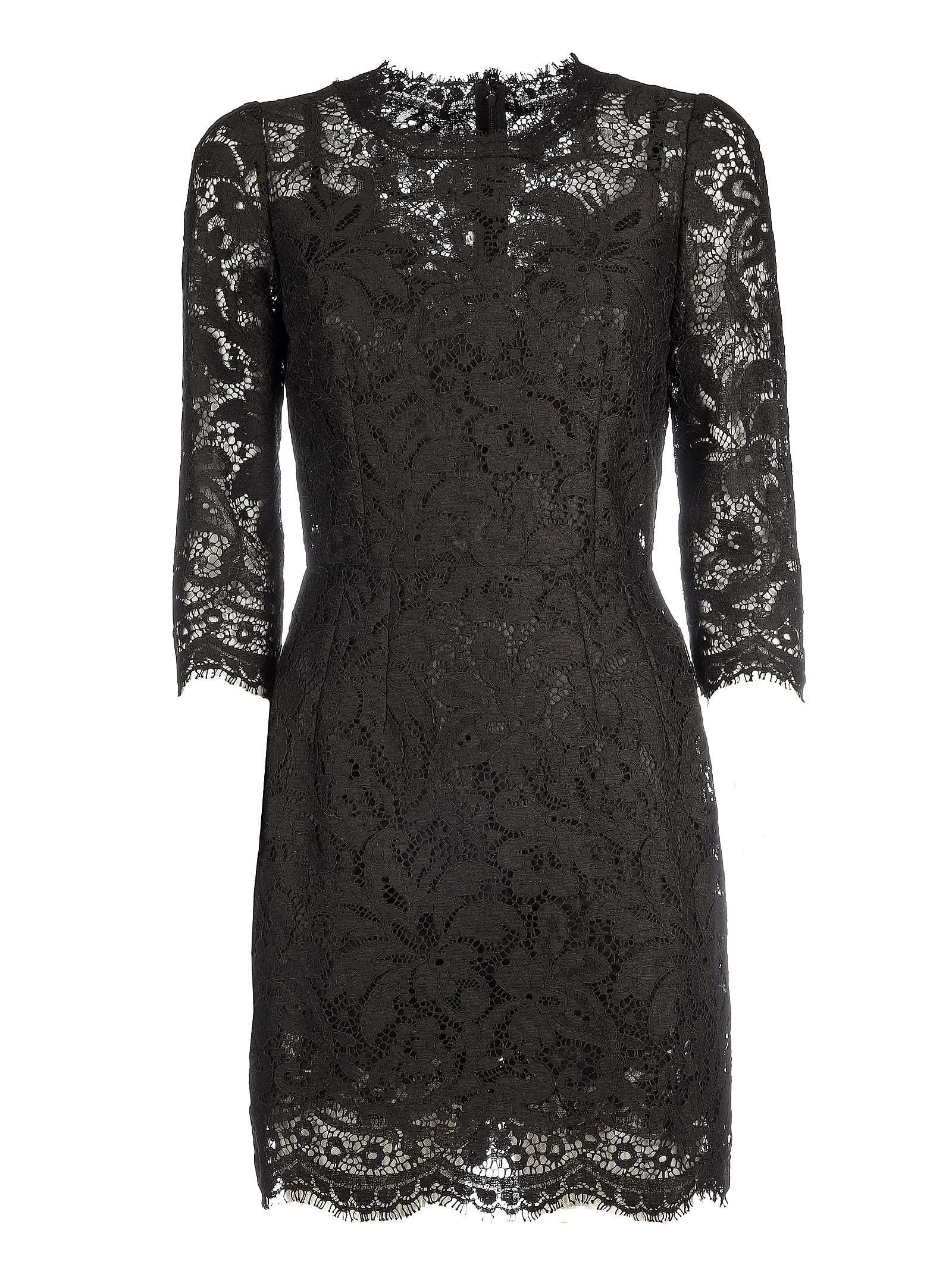 Dolce & Gabbana Lace Details Dress & viscosa