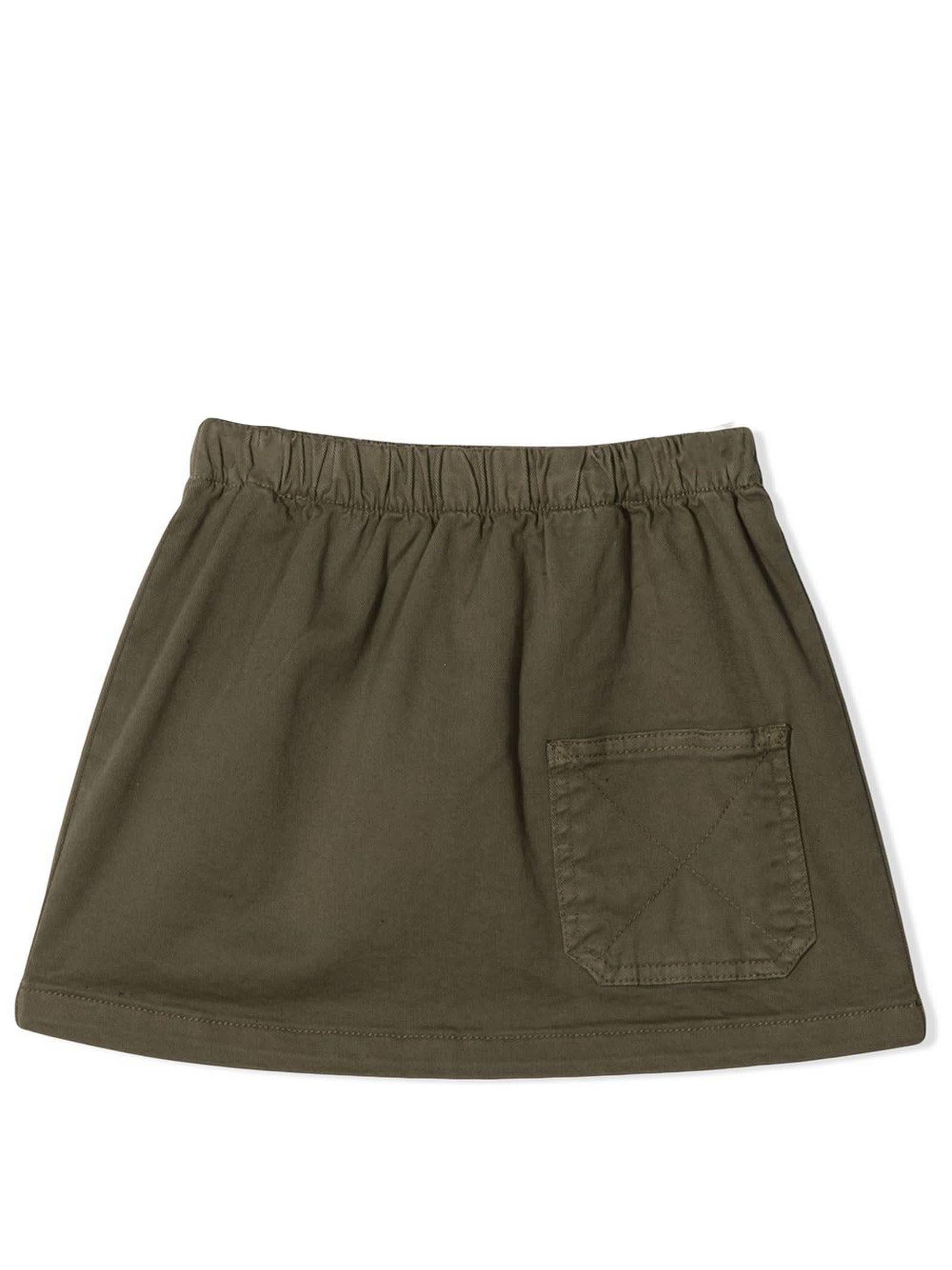 Khaki Green Cargo Mini Skirt