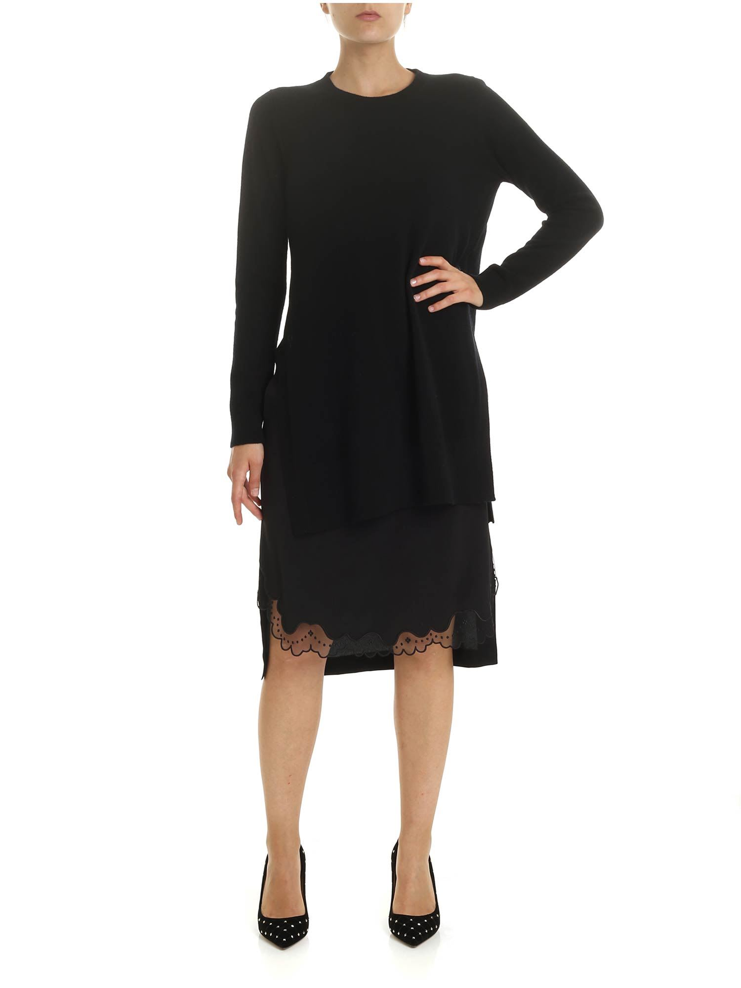 N.21 Knitted Dress With Silk Petticoat