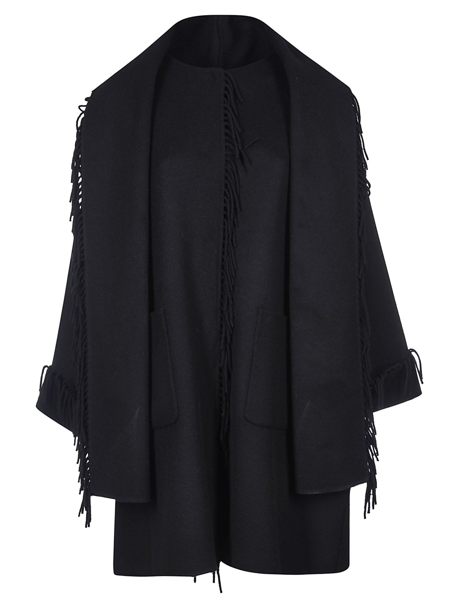 Parosh Fringed Trim Cape