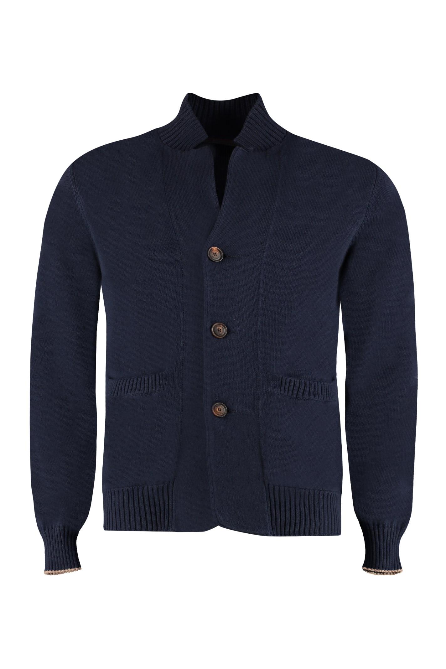 Brunello Cucinelli Buttoned Cotton Cardigan
