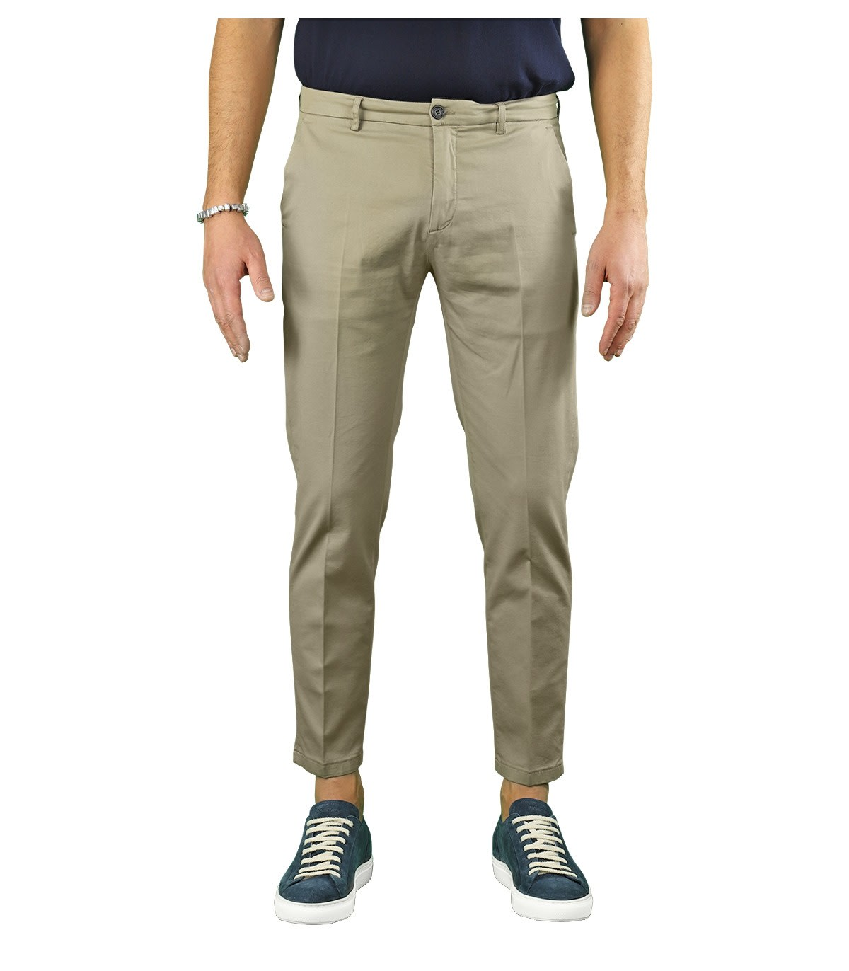 Department 5 Cottons PRINCE TAUPE CHINO TROUSERS