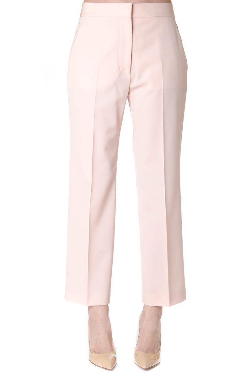 Stella McCartney Pink Cropped Tailored Trousers