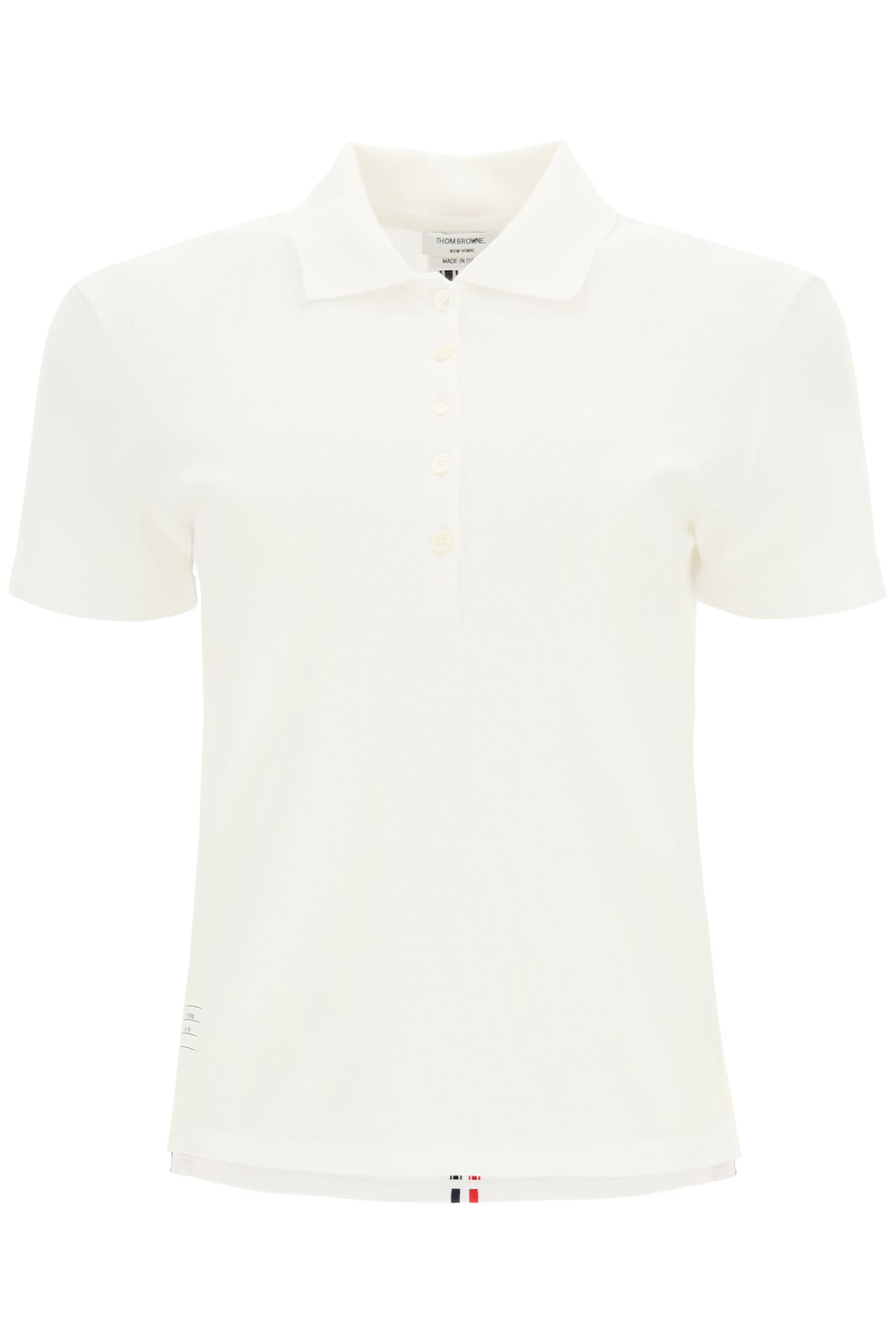 Thom Browne Clothing PIQUET POLO SHIRT WITH BACK STRIPES