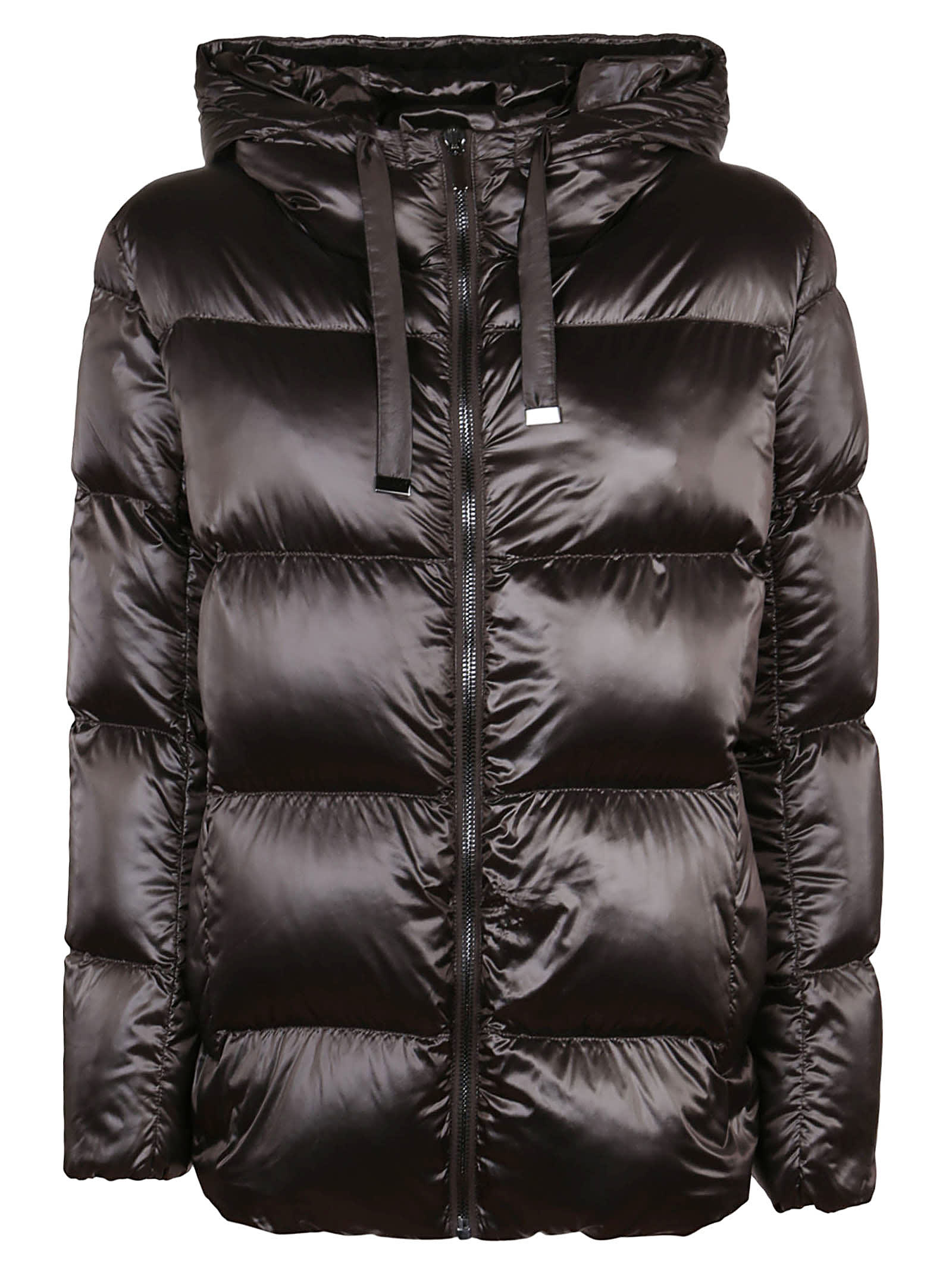 Down Jacket In Brown Technical Fabric
