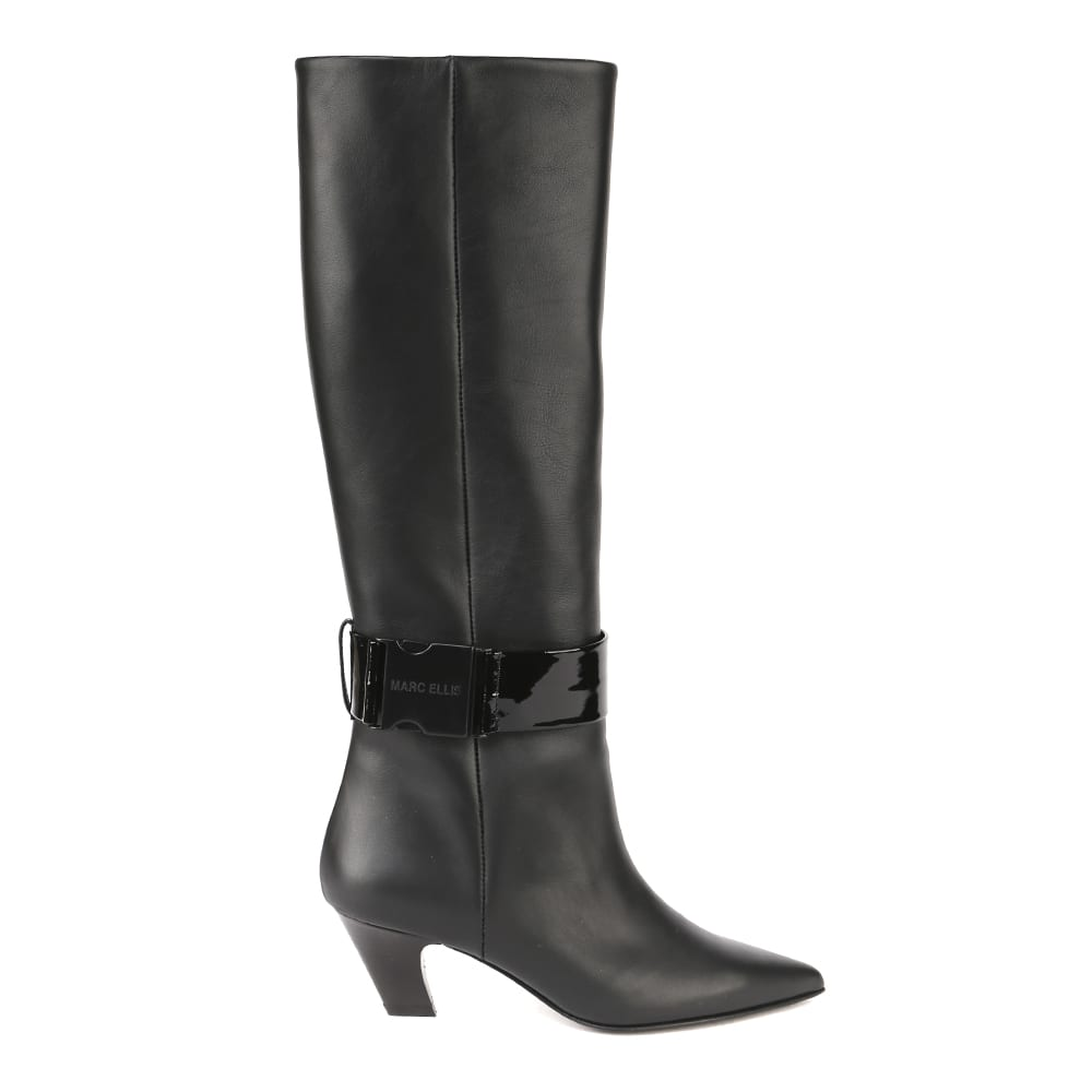 Black Gloss Leather Boot