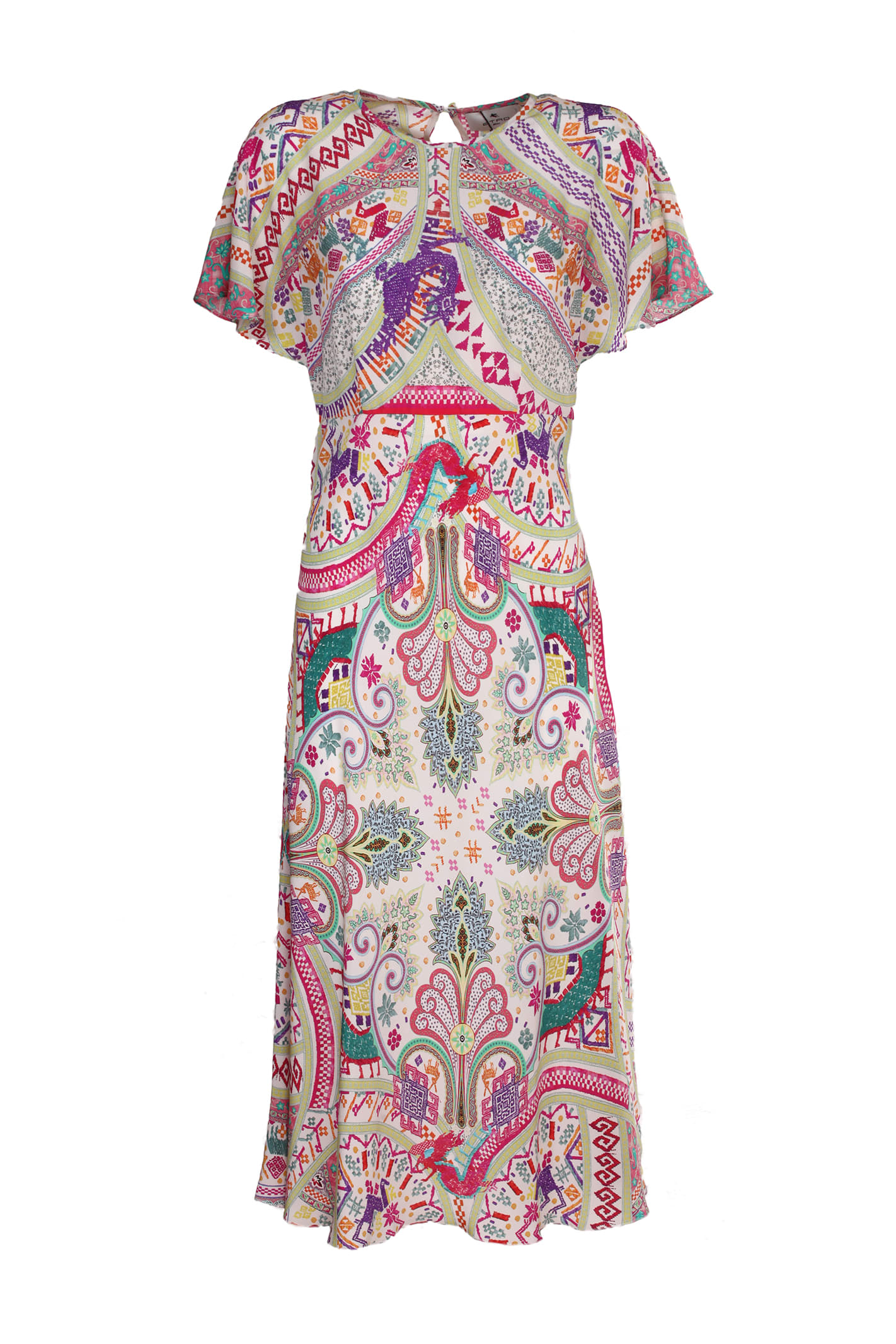 Etro Crepe De Chine Dress, Decorated