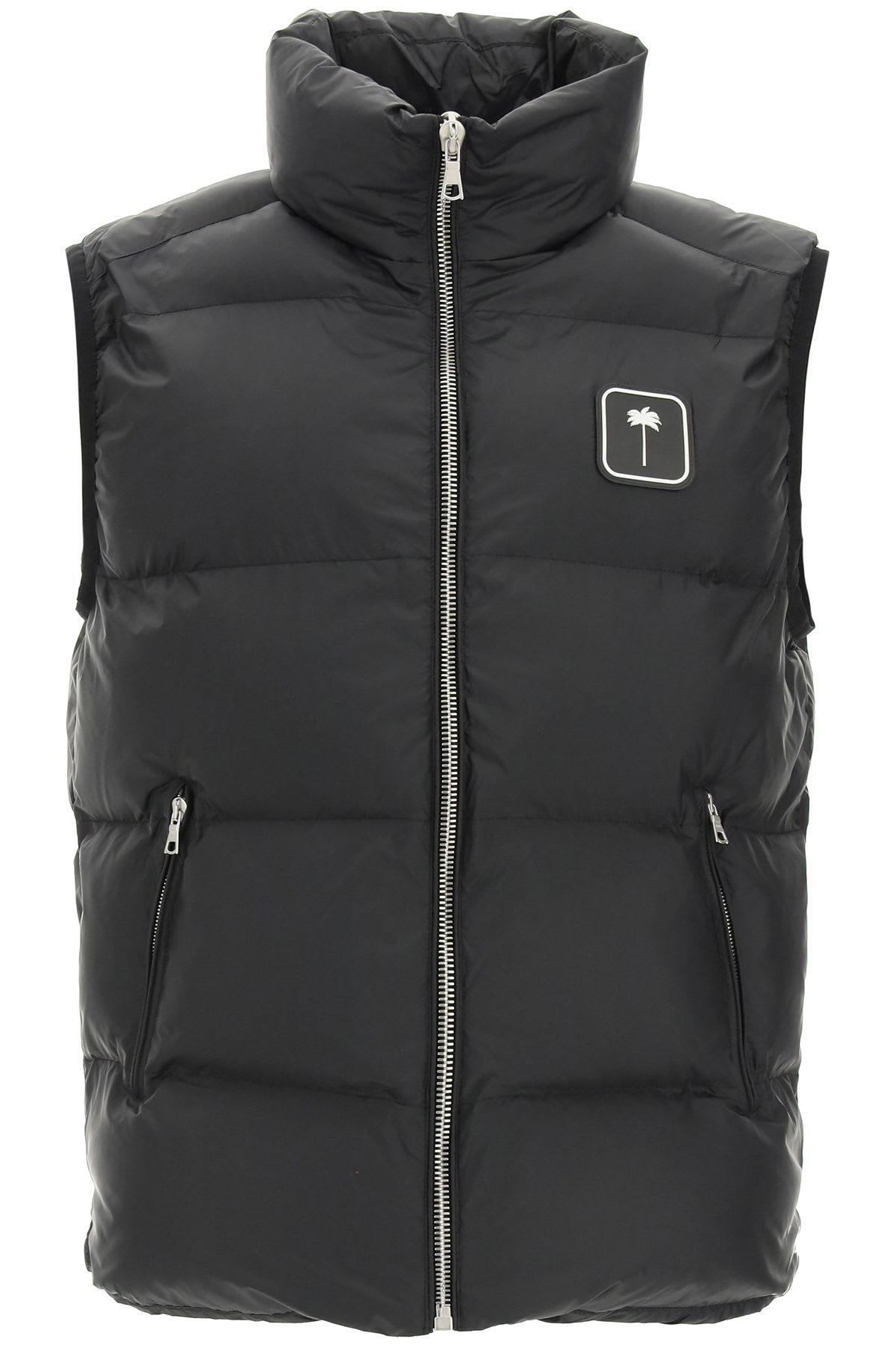 Palm Angels Puffer Vest With Palm Tree Logo