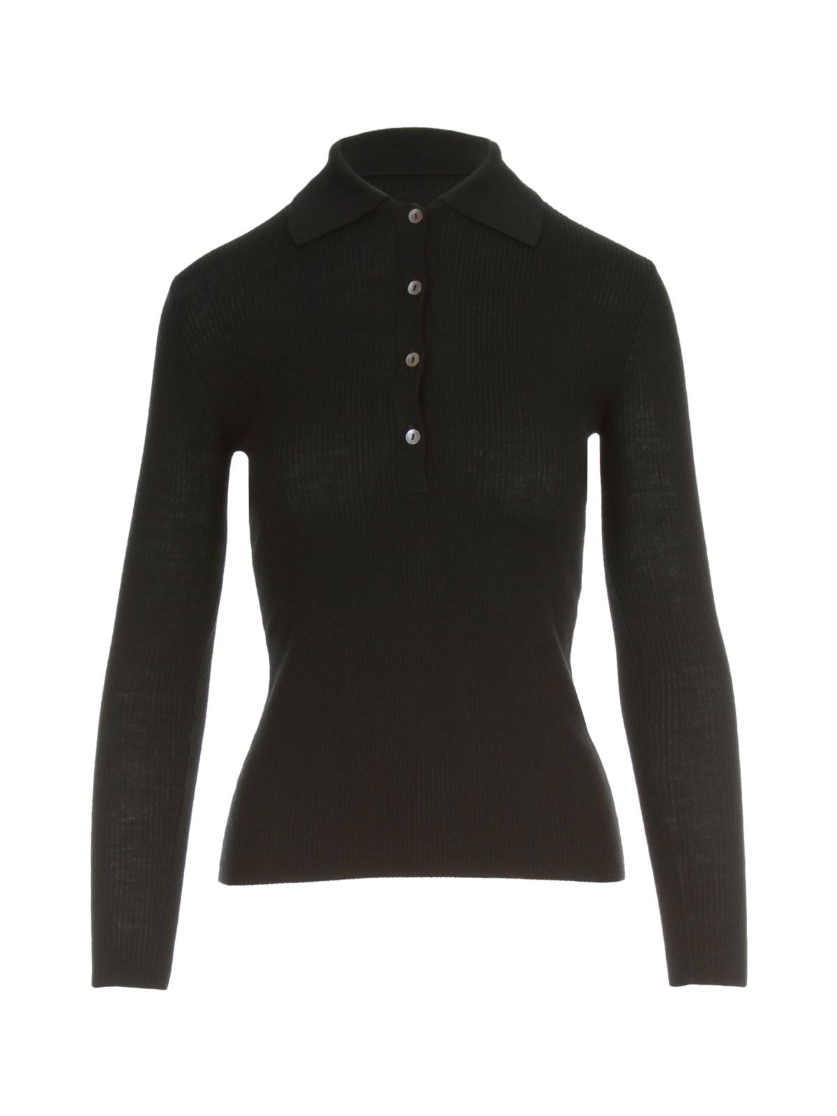 Parosh Ribbed Polo Neck L/s Sweater
