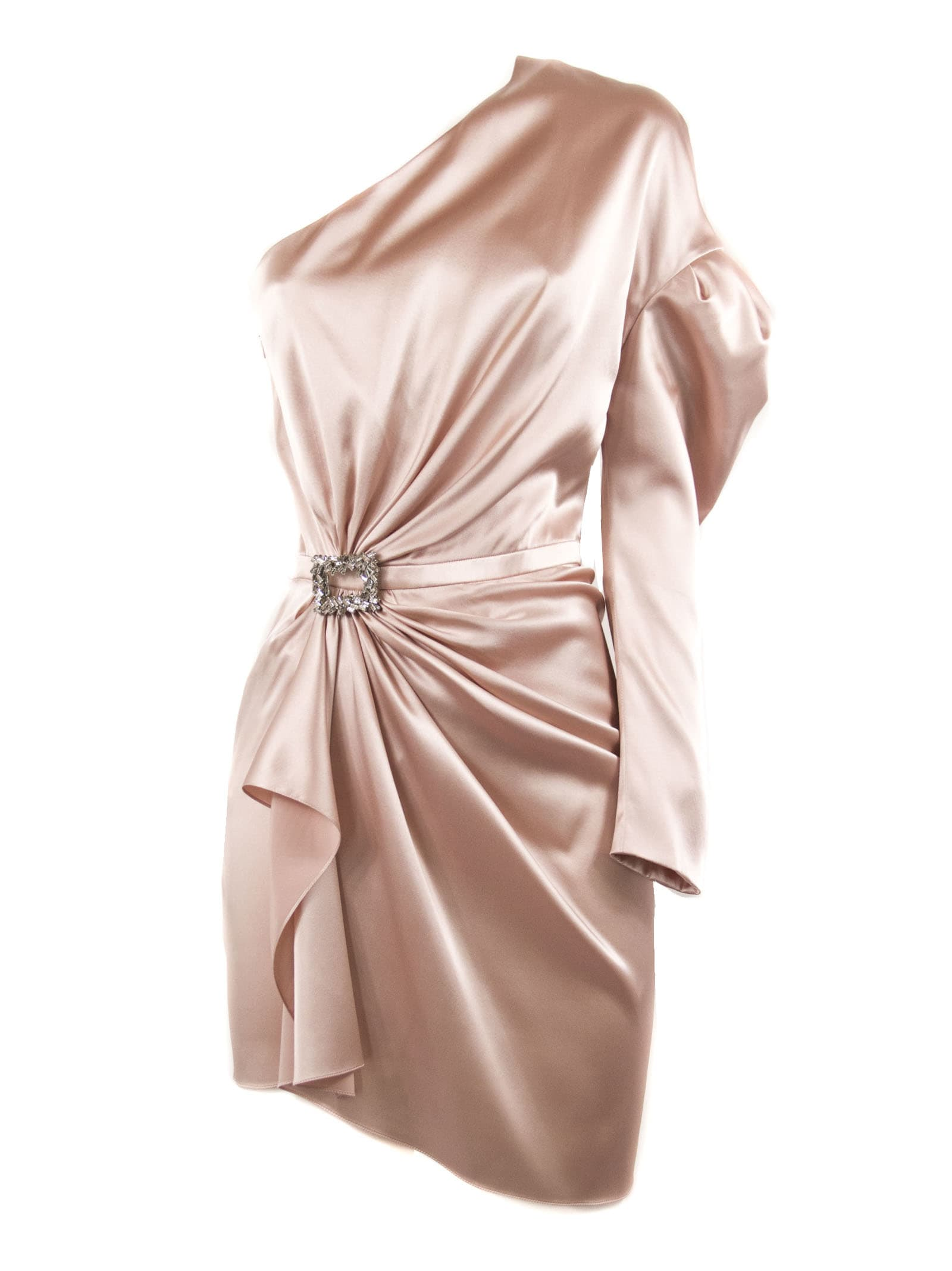 Alexandre Vauthier Powder Silk Blend Mini Dress