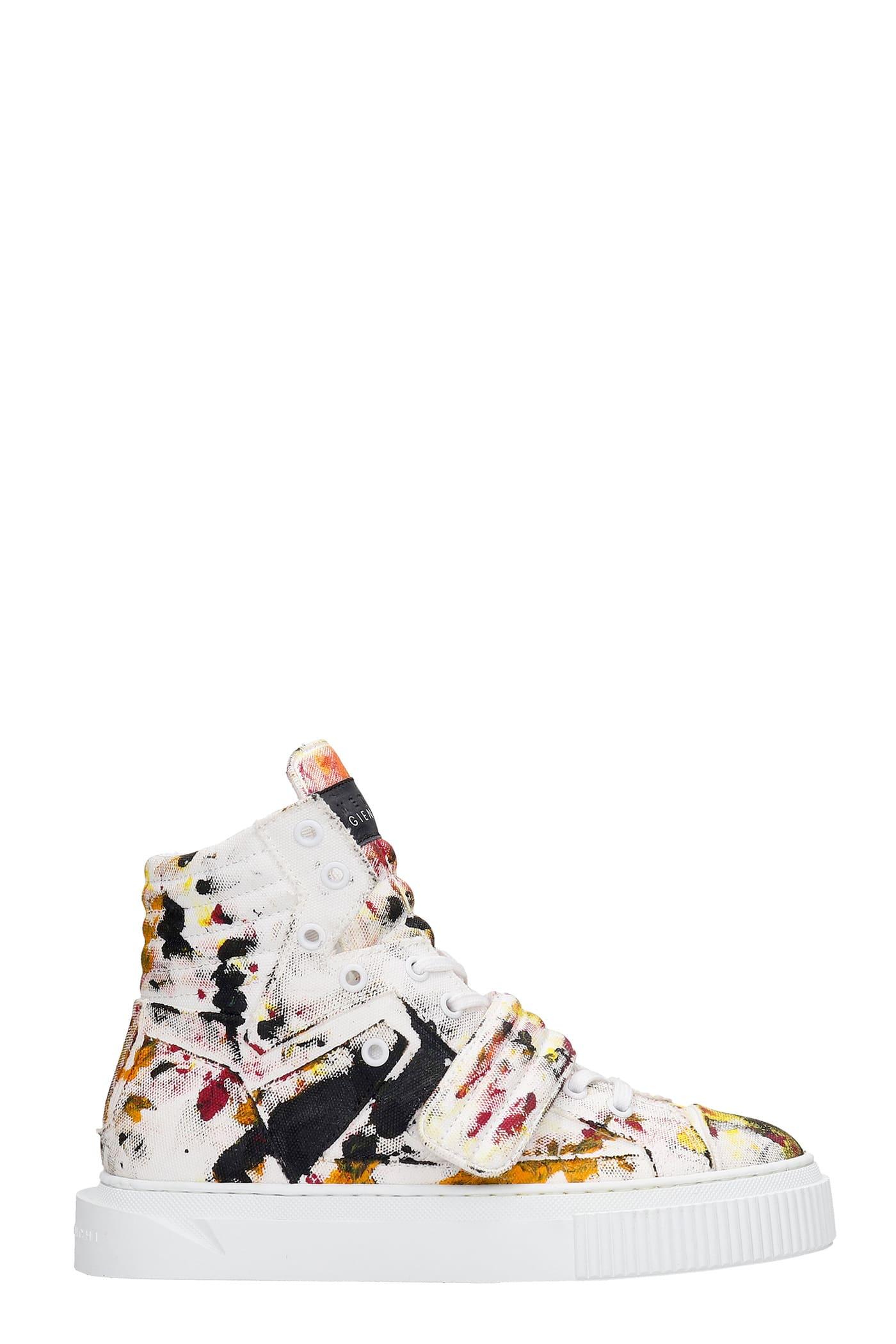 Hypnos Shake Sneakers In Multicolor Canvas