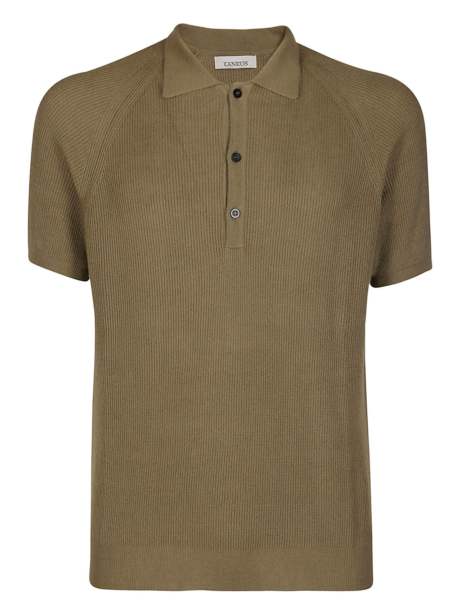 Laneus Cottons ARMY GREEN COTTON POLO SHIRT