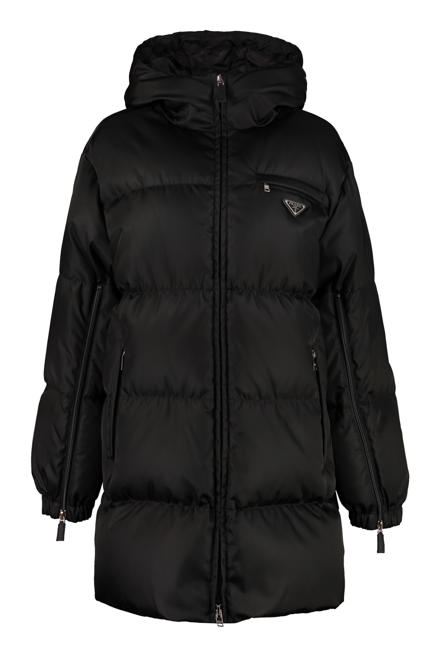Prada Full Zip Padded Hooded Jacket
