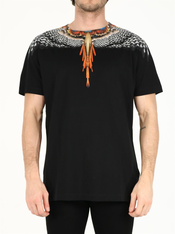 Marcelo Burlon County Of Milan Cottons BLACK WINGS T-SHIRT