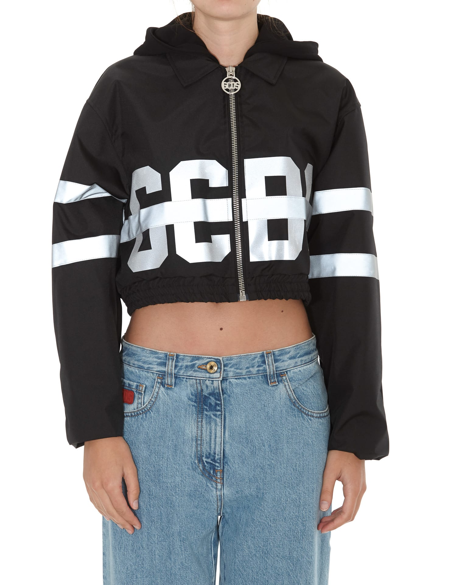 Gcds Crop Fluo Coach Jacket