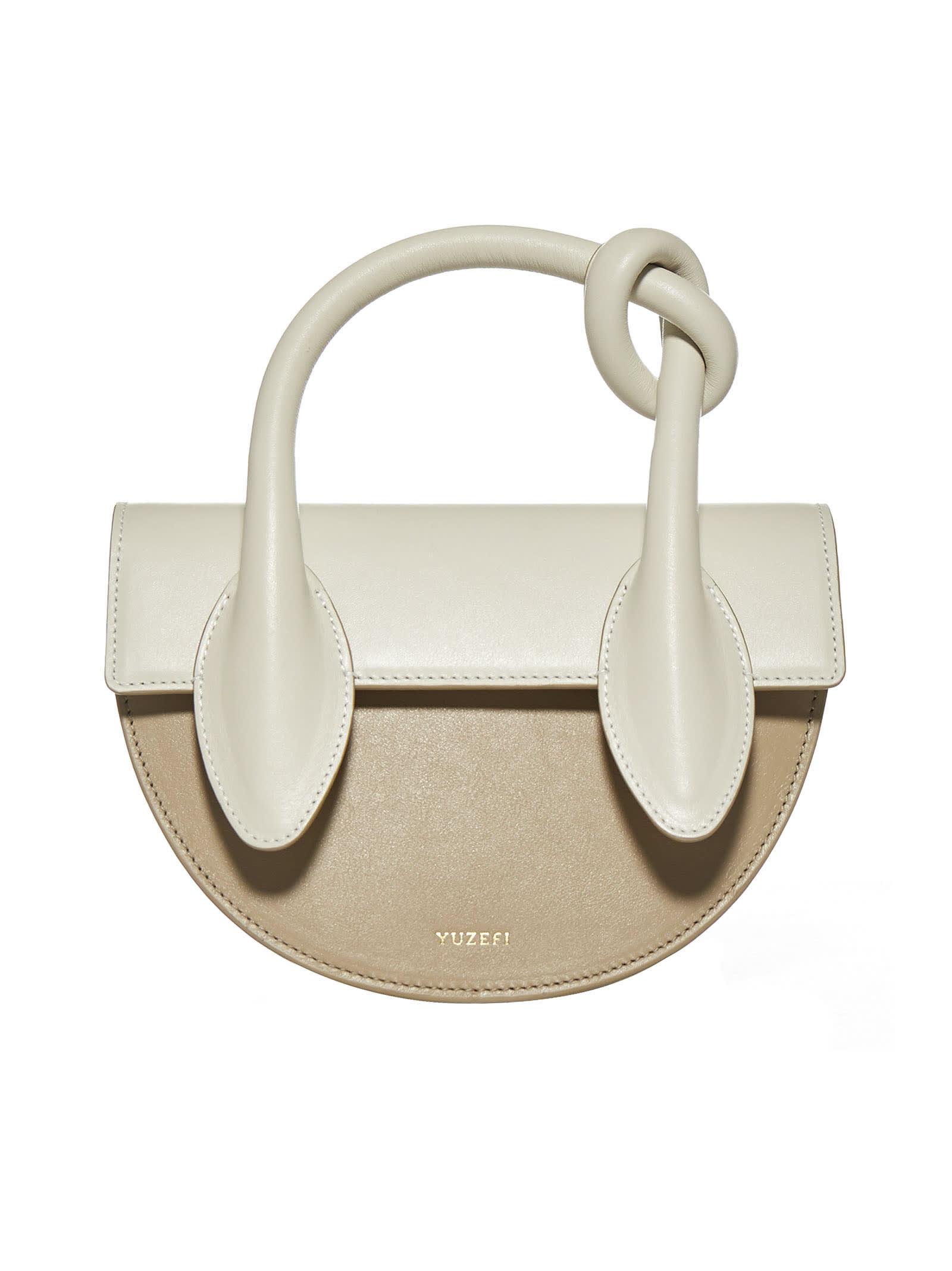 YUZEFI Dolores Color-block Leather Bag