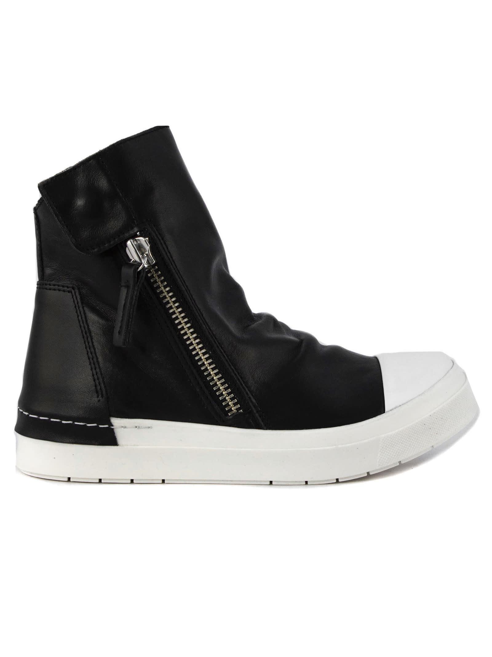 High-top Sneaker In Black