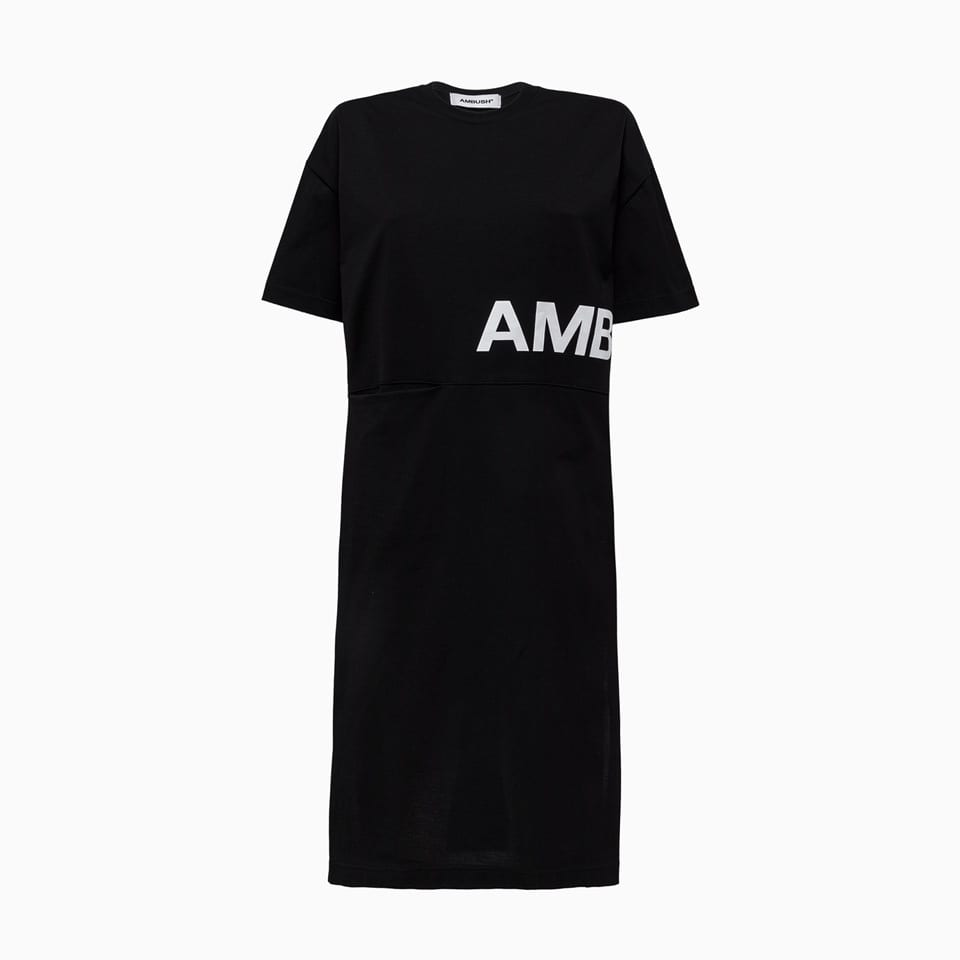 Buy Maxi Dress In Black Cotton online, shop AMBUSH with free shipping