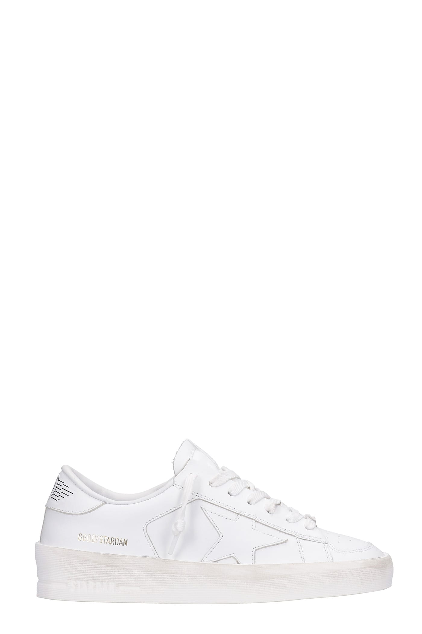 Golden Goose Stardan Sneakers In White Leather