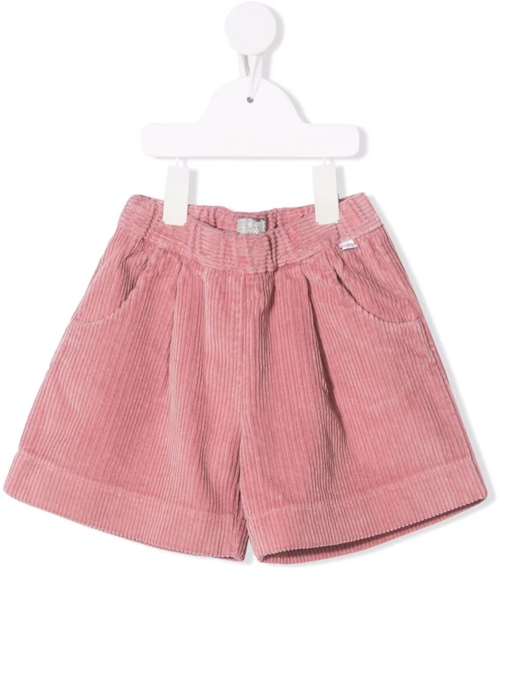 Kids Shorts In Pink Corduroy