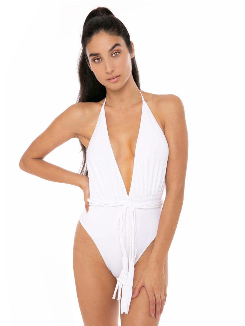 MC2 Saint Barth White One Piece Swimsuit