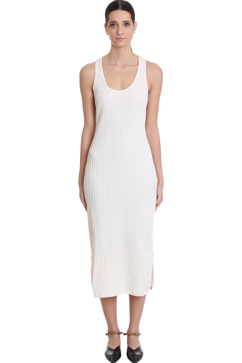 Buy Jil Sander Dress In White Cotton online, shop Jil Sander with free shipping