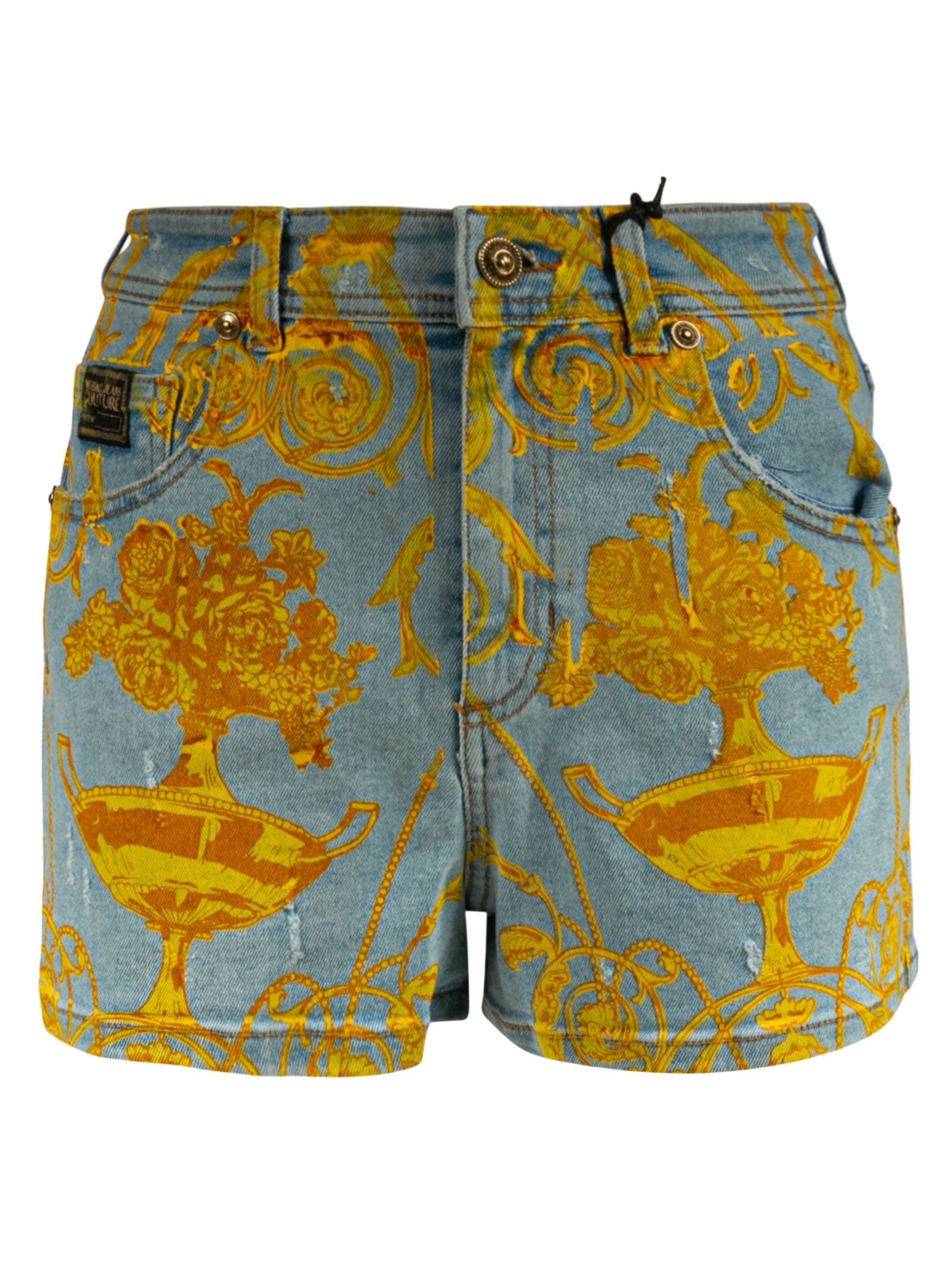 Versace Jeans Couture Shorts PRINTED DENIM SHORTS