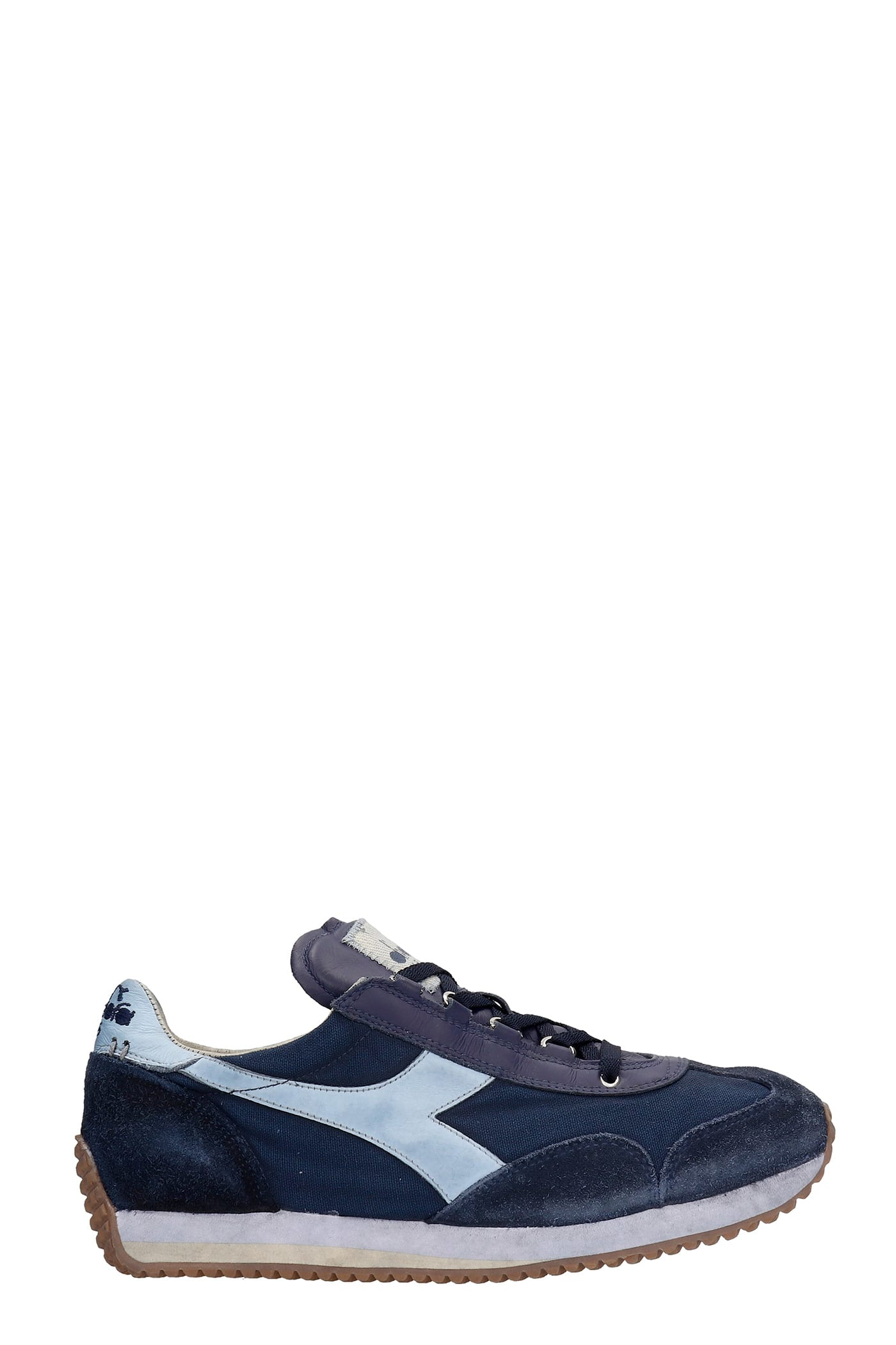 Equipe H Sneakers In Blue Suede And Fabric Diadora