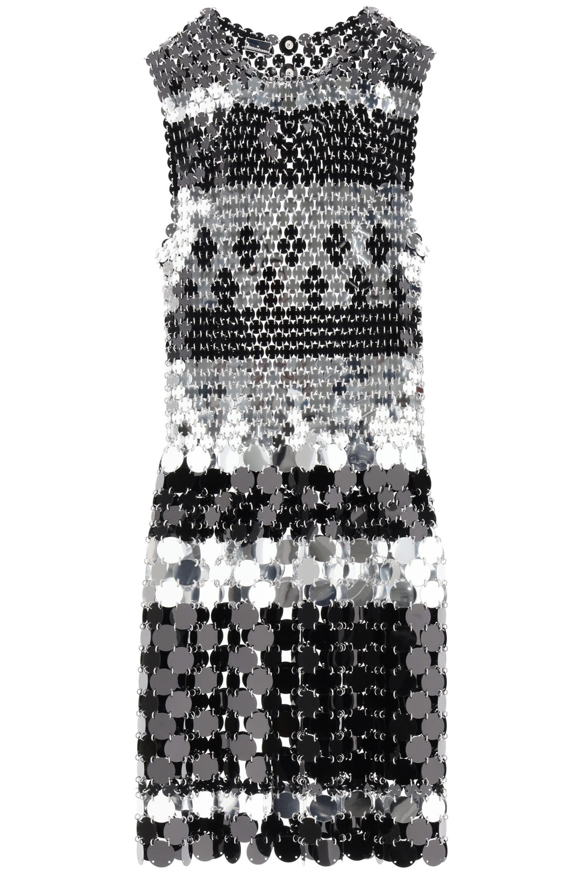Buy Paco Rabanne Two-tone Sequin Dress online, shop Paco Rabanne with free shipping