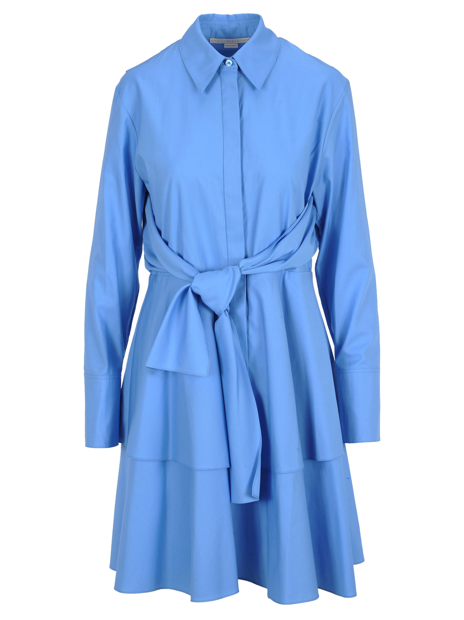 Photo of  Stella Mccartney Stella Mccartney Ruffle Shirt Dress- shop Stella McCartney  online sales