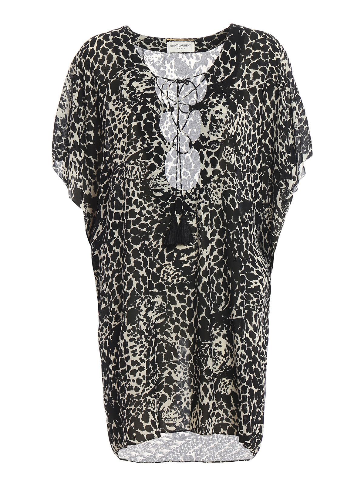 Saint Laurent Leopard Dress