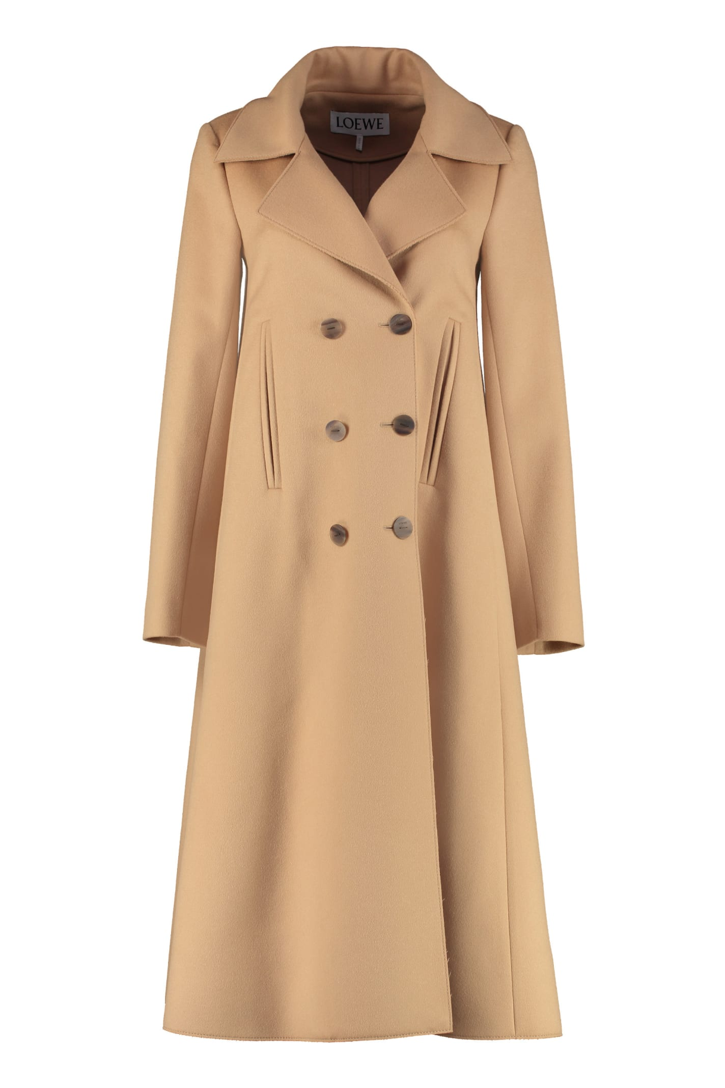 Loewe Swing Double-breasted Wool Coat