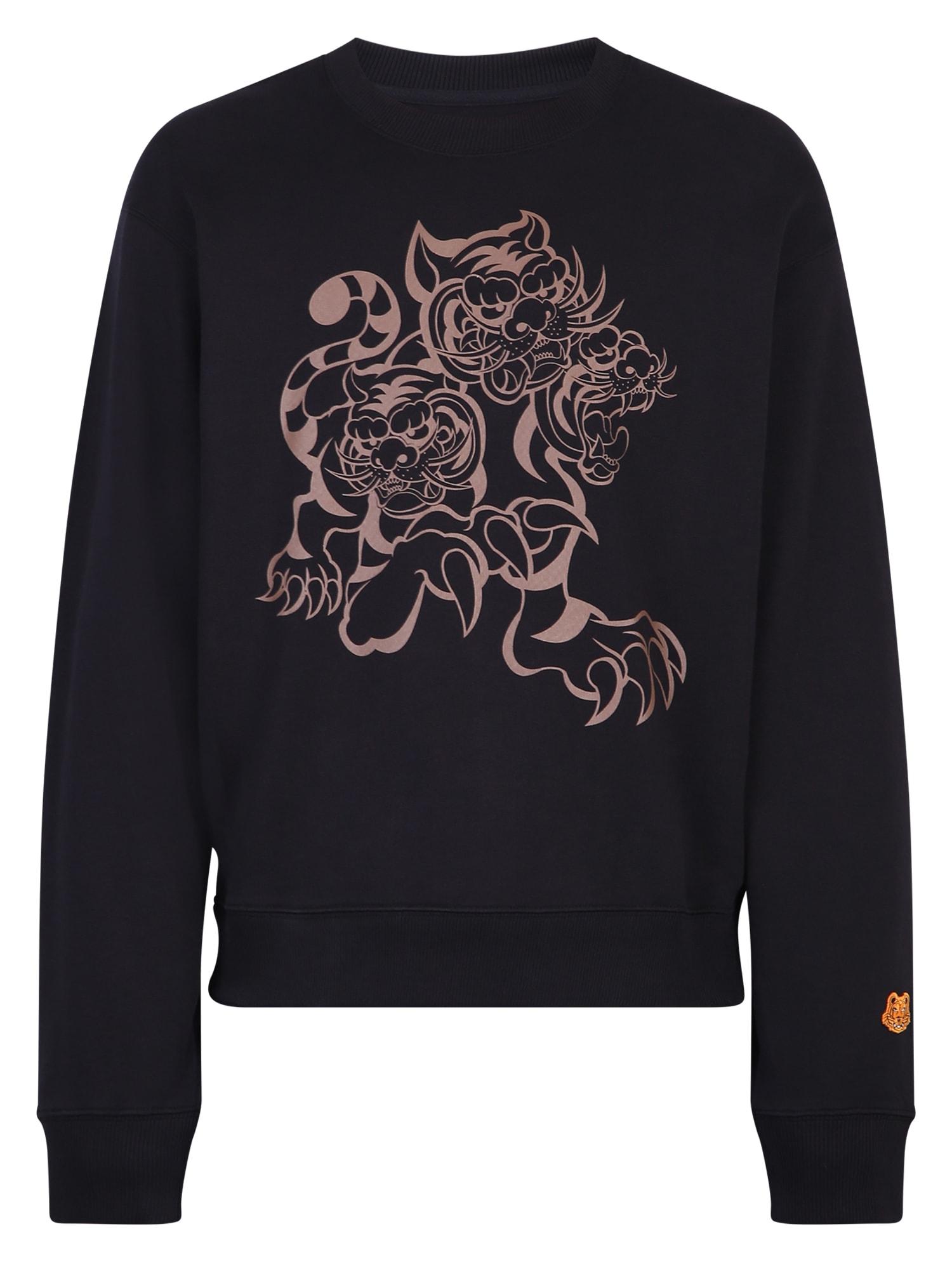 Kenzo Printed Sweatshirt In Black