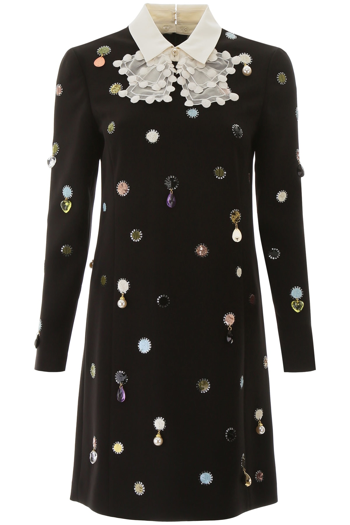 Buy Tory Burch Embroidered Mini Dress online, shop Tory Burch with free shipping