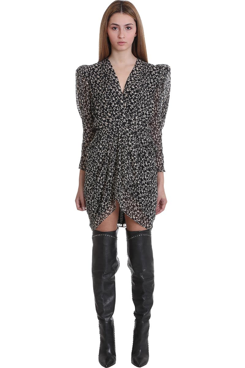 Buy IRO Victoria Dress In Black Silk online, shop IRO with free shipping