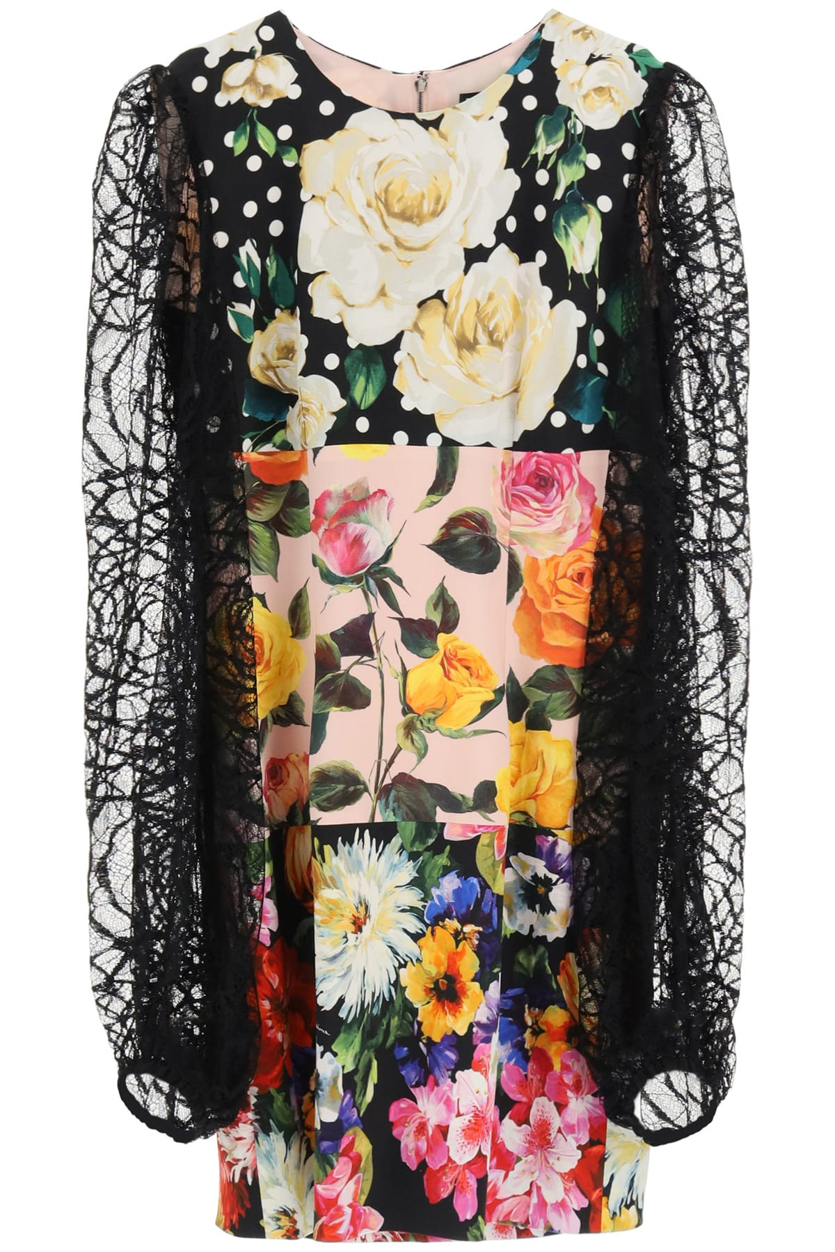 Dolce & Gabbana MINI DRESS WITH LACE SLEEVES