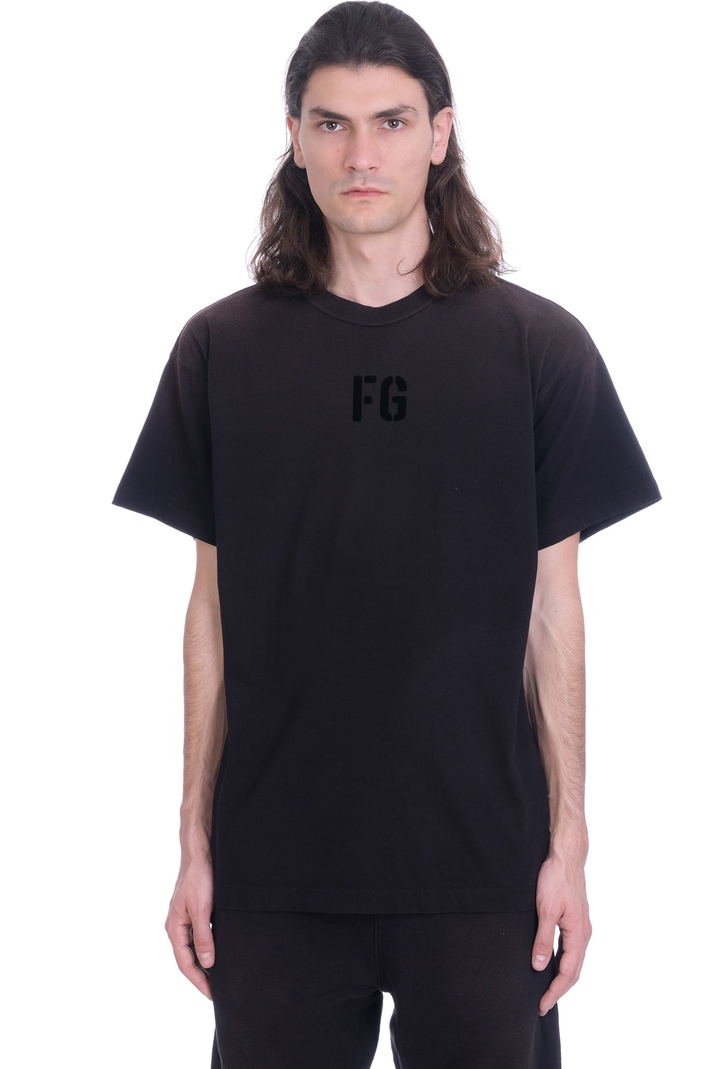 Fear Of God T-shirts T-SHIRT IN BLACK COTTON