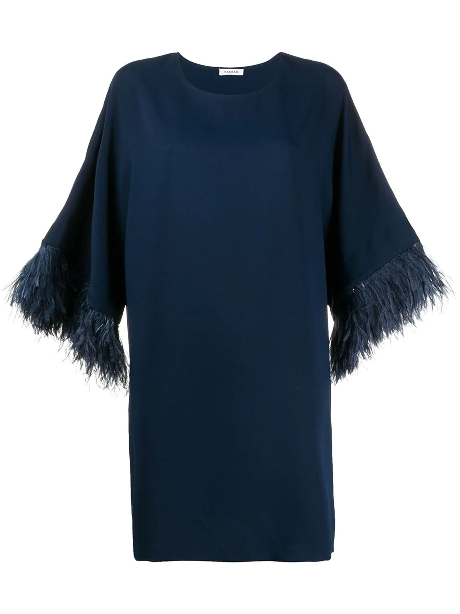 Buy Parosh Panters Blue Dress online, shop Parosh with free shipping