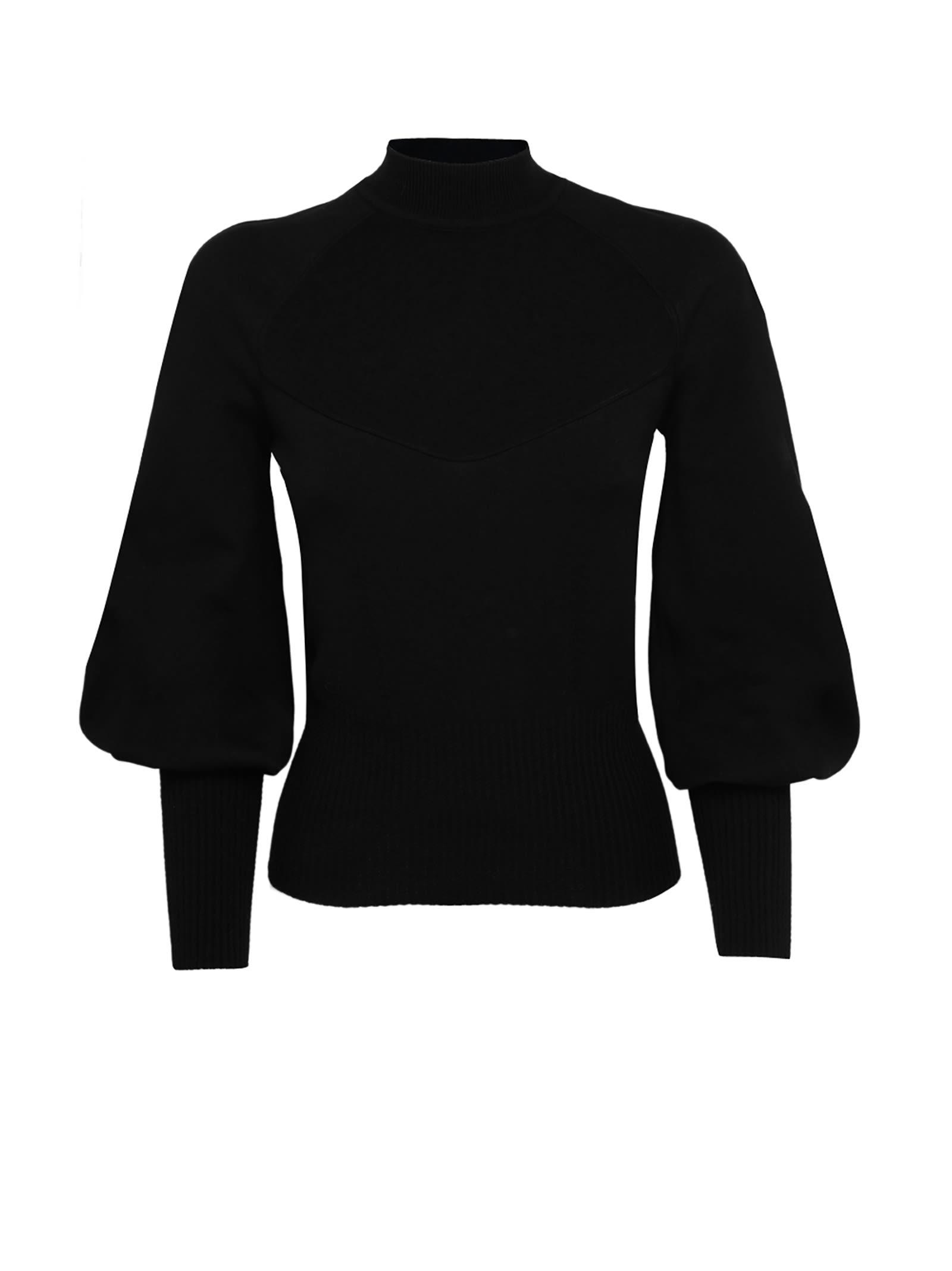 Black High Neck Knitwear
