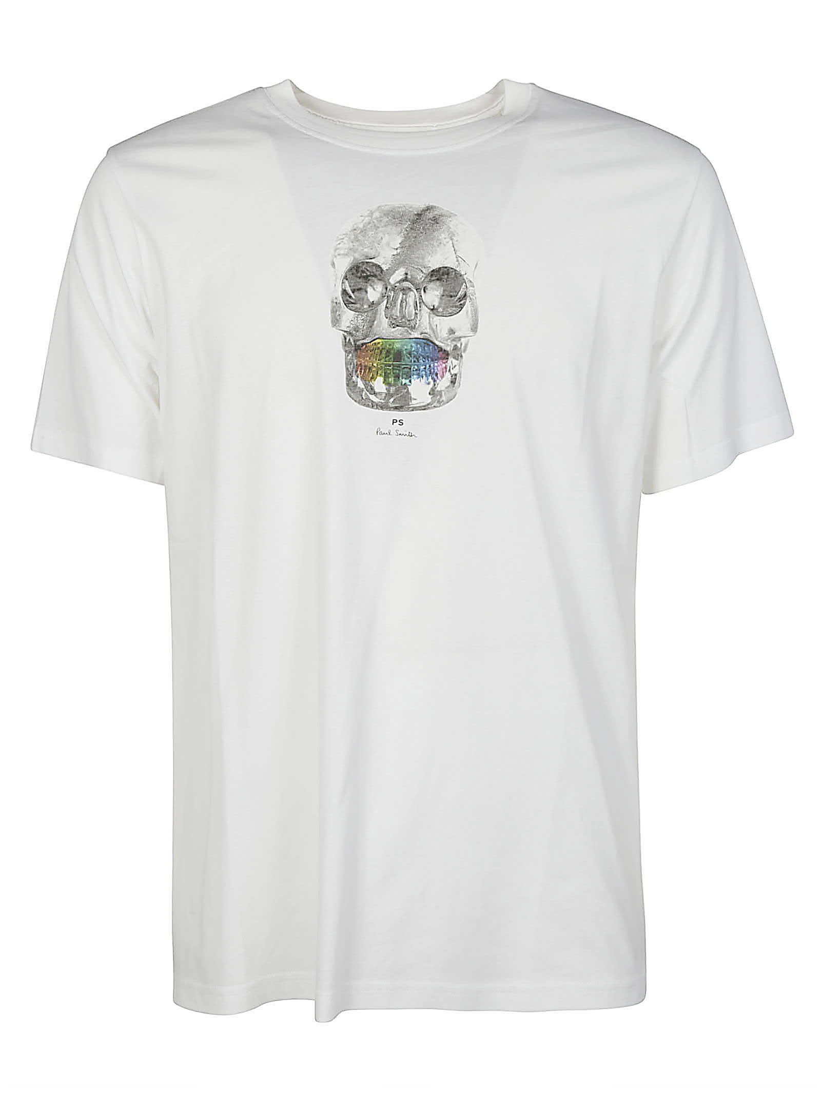 Ps By Paul Smith Cottons REGULAR FIT SKULL T-SHIRT