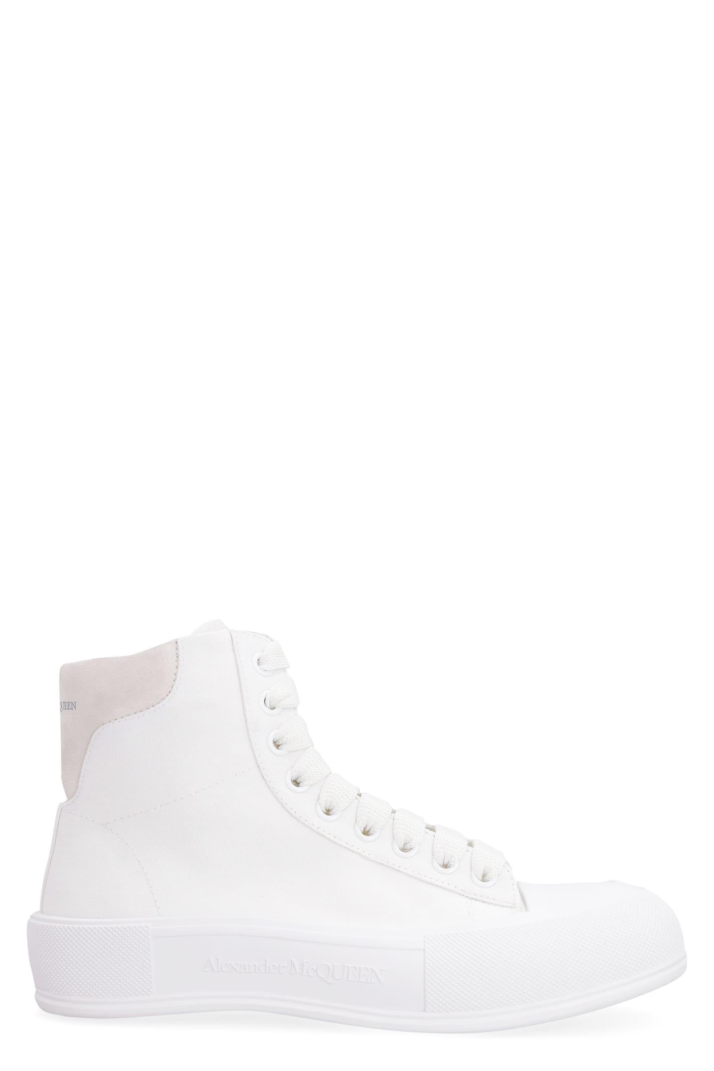 Alexander McQueen Canvas High-top Sneakers