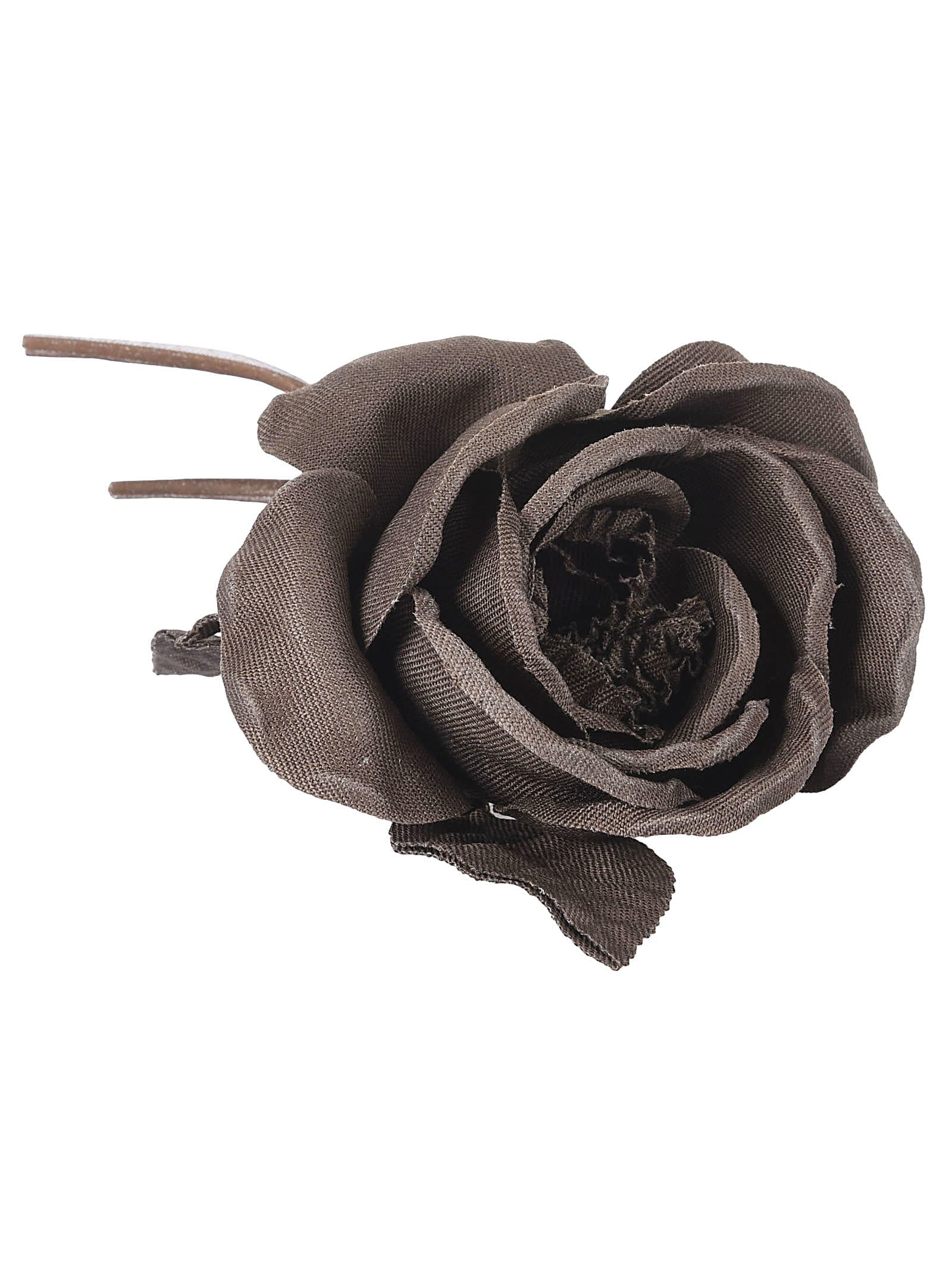P.a.r.o.s.h. Flower Brooch In Brown